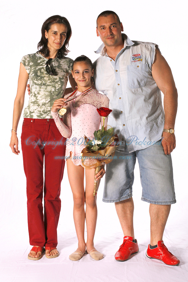 Bistra Stareishinska with her parents